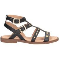 Chaussures Fille Sandales et Nu-pieds Dianetti Made In Italy I9749L Sandales Enfant NOIR NOIR