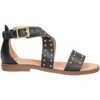 Chaussures Fille Sandales et Nu-pieds Dianetti Made In Italy I9733 Sandales Enfant NOIR NOIR