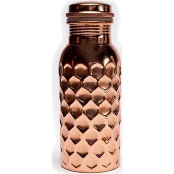 Maison & Déco Bouteilles Zen Et Ethnique Bouteille en cuivre martelée avec bouchon à vis - 500 ml Orange