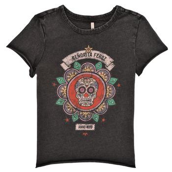 Vêtements Fille T-shirts manches courtes Only KONLUCY Noir