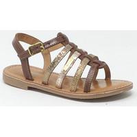 Chaussures Fille Sandales et Nu-pieds Les Tropéziennes par M Belarbi LES TROPEZIENNES MONGUE TAN/OR Doré