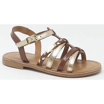 Chaussures Fille Sandales et Nu-pieds Les Tropéziennes par M Belarbi LES TROPEZIENNES MONGA TAN/OR Doré