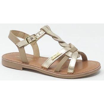 Chaussures Fille Sandales et Nu-pieds Les Tropéziennes par M Belarbi LES TROPEZIENNES BADAMI BEIGE/OR Beige