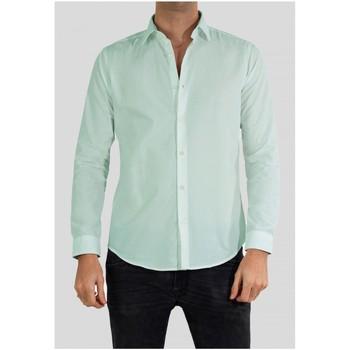 Vêtements Homme Chemises manches longues Kebello Chemise Slim fit Taille : H Vert S Vert