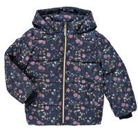 Vêtements Fille Doudounes Name it NMFMAY PUFFER JACKET Marine / Multicolore