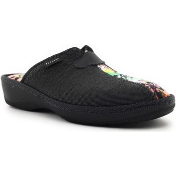 Chaussures Femme Chaussons Fargeot PAILLOTE Noir