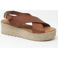 Chaussures Femme Sandales et Nu-pieds Eva Frutos SANDALE CUERO GRABADO Marron
