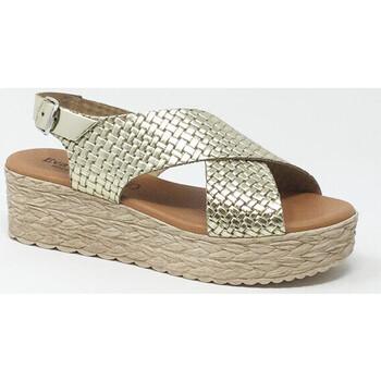 Chaussures Femme Sandales et Nu-pieds Eva Frutos SANDALE ORO GRABADO Doré