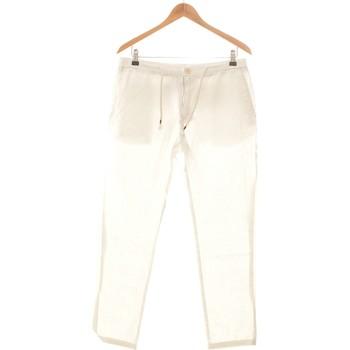 Vêtements Femme Pantalons Celio Pantalon Droit Femme  40 - T3 - L Blanc