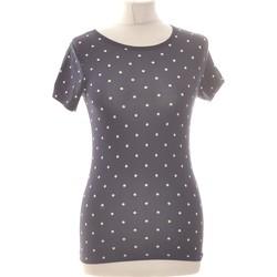Vêtements Femme Tops / Blouses Forever 21 Top Manches Courtes  36 - T1 - S Bleu