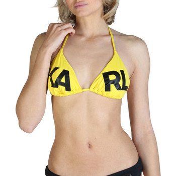 Vêtements Femme Maillots de bain séparables Karl Lagerfeld - kl21wtp05 Jaune