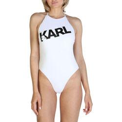 Vêtements Femme Maillots de bain 1 pièce Karl Lagerfeld - kl21wop03 Blanc