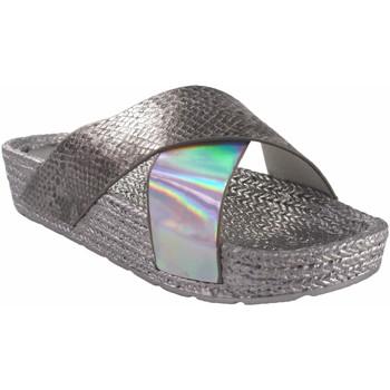 Chaussures Femme Espadrilles Kelara Dame de plage  K12033 argent Argenté