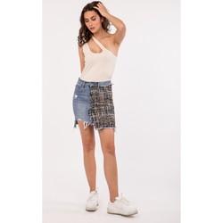 Vêtements Femme Blousons Toxik3 Jupe asymétrique - Dizy Bleu jean clair