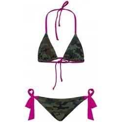 Vêtements Fille Maillots de bain 2 pièces Sundek Maillot de bain 2 pièces camouflage MINI YUMA Vert