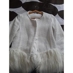 Vêtements Femme Vestes / Blazers Sans marque Veste tweed Blanc