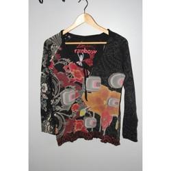 Vêtements Femme T-shirts manches longues Desigual Tee-shirt manches longues noir Desigual taille L Noir