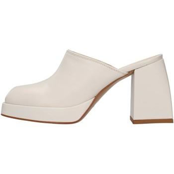 Chaussures Femme Sabots Violet NODA02 BLANC