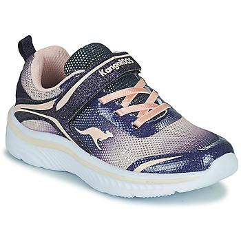 Chaussures Fille Baskets basses Kangaroos K-MAID GLEAM EV Bleu / Argenté