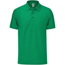 Vêtements Homme Polos manches courtes Fruit Of The Loom 63042 Vert chiné
