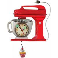 Maison & Déco Horloges Gourmandise Pendule en forme Robot de cuisine Rouge