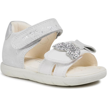 Chaussures Fille Sandales et Nu-pieds Geox B sandal Alul Girl Blanc