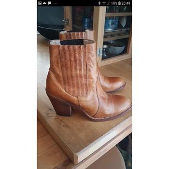 Chaussures Femme Bottines Sancho Boots Boots Sancho cuir camel 37 Autres