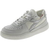 Chaussures Fille Baskets basses Diadora BASKET ROW CUT CANVAS BIANCHE Blanc