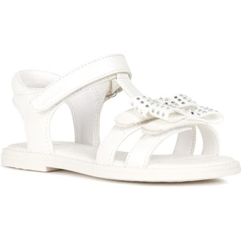 Chaussures Fille Sandales et Nu-pieds Geox J Sandal Karly Fille Blanc Blanc