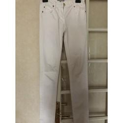 Vêtements Femme Jeans skinny Version Originale Pantalon blanc skinny 34 Blanc