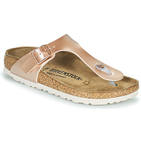Chaussures Fille Tongs Birkenstock GIZEH Rose / Doré
