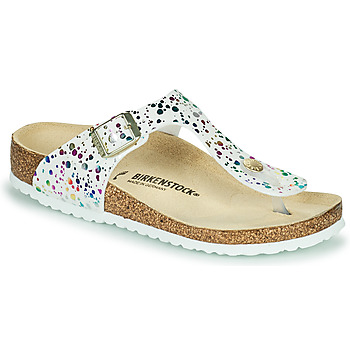 Chaussures Fille Tongs Birkenstock GIZEH Blanc / Multicolore