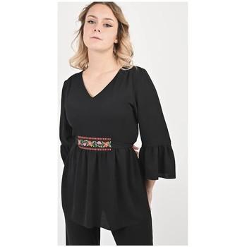 Vêtements Femme Tout accepter et fermer Georgedé Top Mina Bohème Noir Noir