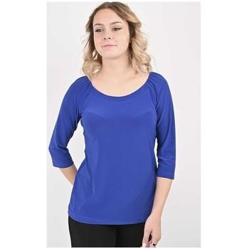 Vêtements Femme Tout accepter et fermer Georgedé Top Polly en Jersey Bleu Royal Bleu