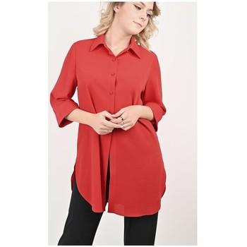 Vêtements Femme Tuniques Georgedé Tunique Maribel en Crêpe Rouge Rouge
