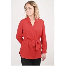 Vêtements Femme Tuniques Georgedé Tunique Jade en Crêpe Rouge Rouge