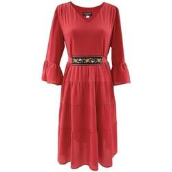 Vêtements Femme Robes courtes Georgedé Robe Malvina Bohème en Crêpe Rouge Courte Rouge