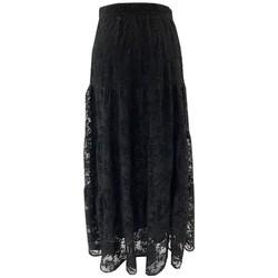 Vêtements Femme Jupes Georgedé Jupe Adella en Dentelle Noire Noir