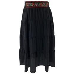 Vêtements Femme Jupes Georgedé Jupe Thalia Bohème Noire Courte Noir