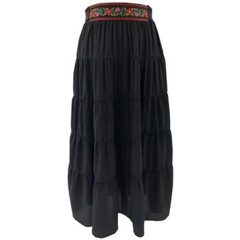 Vêtements Femme Jupes Georgedé Jupe Valeria Bohème Noire Longue Noir
