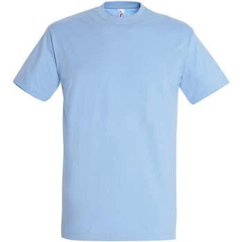 Vêtements Femme T-shirts manches courtes Sols IMPERIAL camiseta color Azul Cielo Azul
