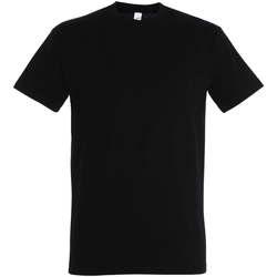 Vêtements Femme T-shirts manches courtes Sols IMPERIAL camiseta color Negro Profundo Negro