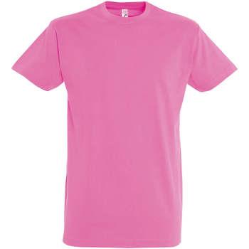 Vêtements Femme T-shirts manches courtes Sols IMPERIAL camiseta color Rosa Orquidea Rosa