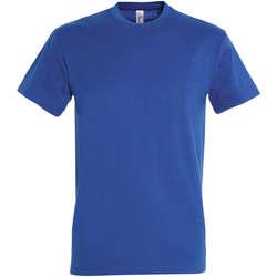 Vêtements Femme T-shirts manches courtes Sols IMPERIAL camiseta color Azul Royal Azul