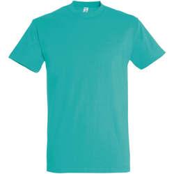 Vêtements Femme T-shirts manches courtes Sols IMPERIAL camiseta color Azul Caribeño Azul