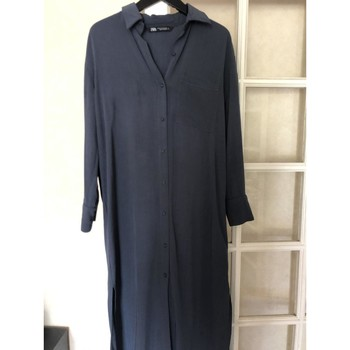 Vêtements Femme Robes longues Zara Robe chemise grise Zara XS Gris