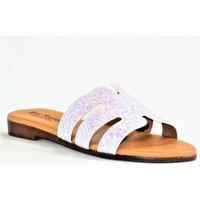 Chaussures Femme Mules Eva Frutos 714 BLANC GLITTER