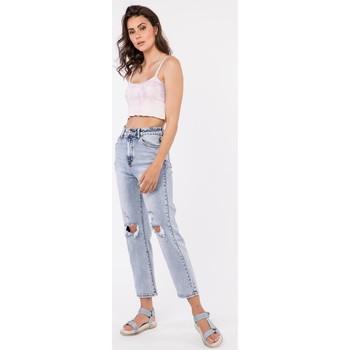 Vêtements Jeans Toxik3 Jean boyfriend - B'Boy Bleu jean clair