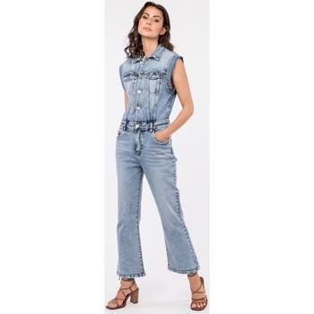 Vêtements Femme Combinaisons / Salopettes Toxik3 Combinaison évasé - Billie Bleu jean clair