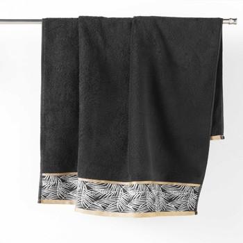 Maison & Déco Serviettes et gants de toilette Douceur d intérieur ORBELLA Noir